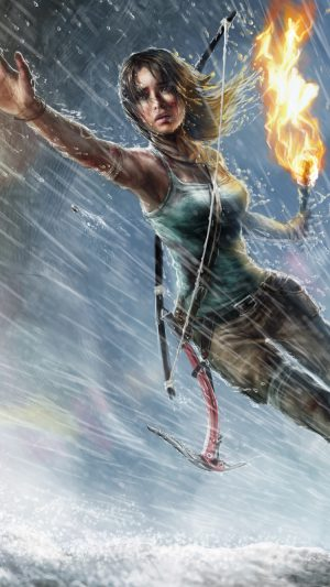 Lara Croft Tomb Raider iPhone 7 wallpaper