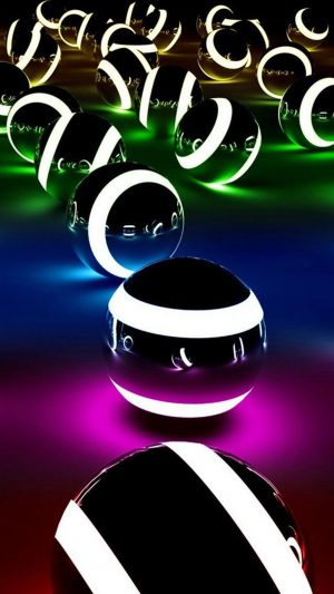 Abstract Colors Balls iPhone 7 wallpaper