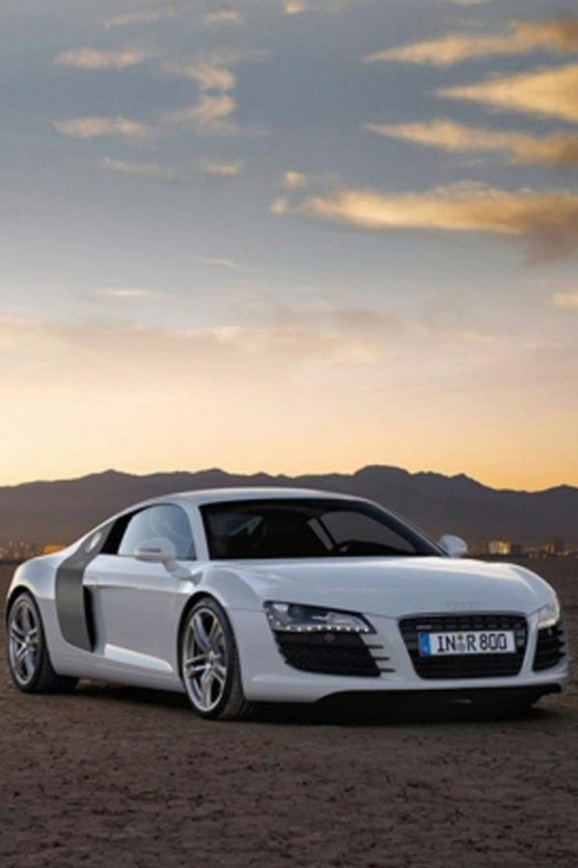 Audi R8 Sunset IPhone Wallpaper