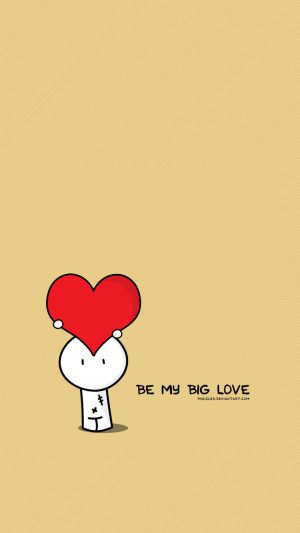 Be My Big Love Valentines Illustration iPhone 7 wallpaper