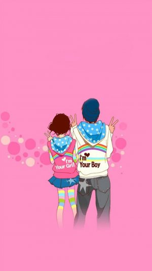 Boy Girl Love iPhone 7 wallpaper
