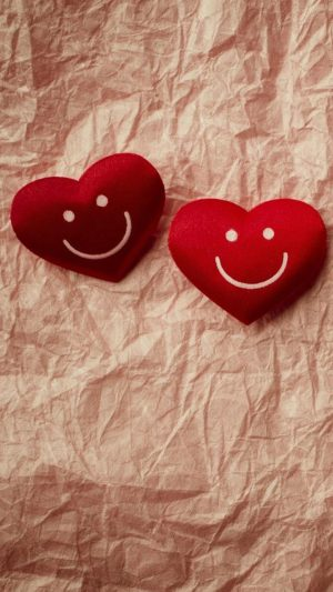 Cute Smile Love Heart Couple Fold Paper iPhone 7 wallpaper