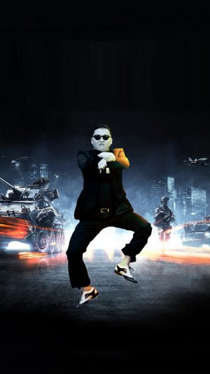 Funny Gangnam Style iPhone 7 wallpaper