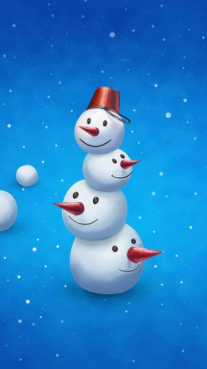 Funny Snowman iPhone 7 wallpaper