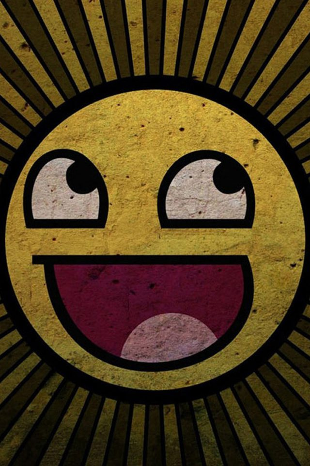 Funny Smiley iPhone wallpaper