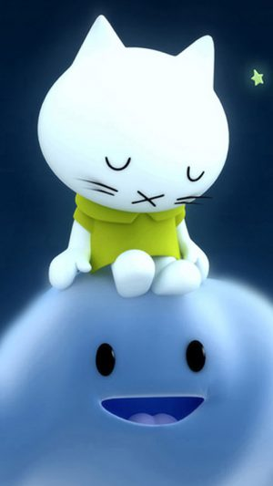 Sleeping Hello Kitty Green Shirt iPhone 7 wallpaper
