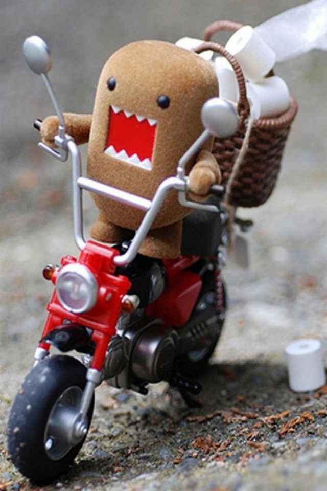 Domo Kun on Scooter iPhone wallpaper