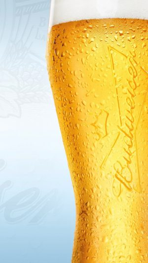 Beer Glass Yellow Closeup iPhone 7 wallpaper
