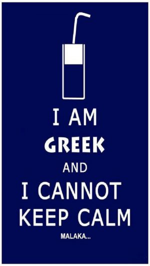I Am Greek iPhone 7 wallpaper