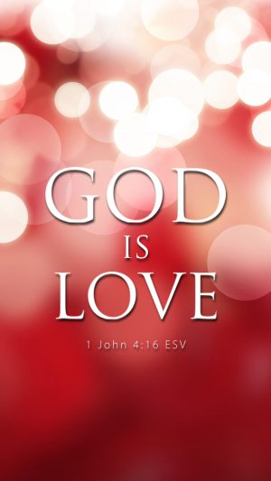 God is Love iPhone 7 wallpaper