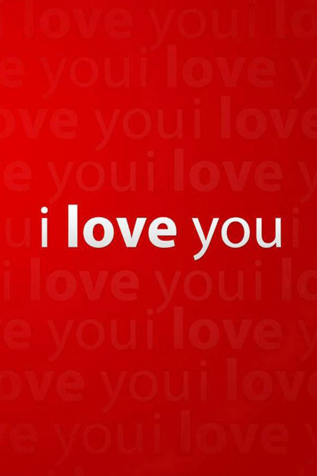 I Love You iPhone wallpaper