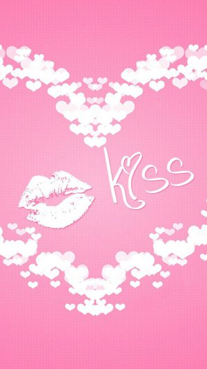 Kiss Love iPhone 7 wallpaper