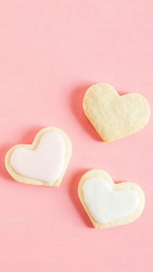 Love Hearts Cookies iPhone 7 wallpaper