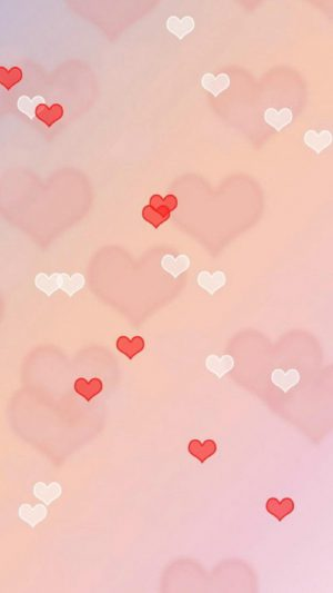 Love hearts iPhone 7 wallpaper