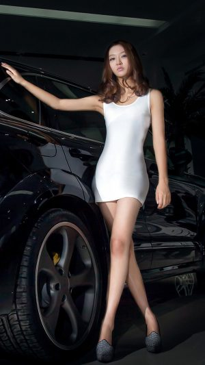 Porsche SUV Girl iPhone 7 wallpaper