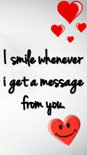 Smile Love Message iPhone 7 wallpaper