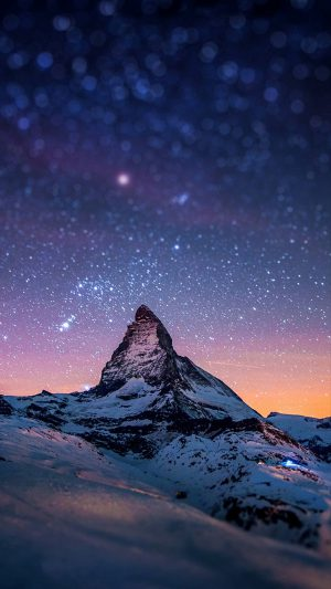Nightsky Mountain iPhone 7 wallpaper