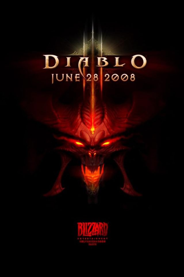 Diablo Logo iPhone wallpaper