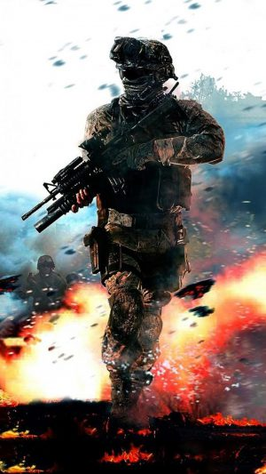 Call of Duty Fire Blur iPhone 7 wallpaper