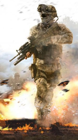 Call of Duty Soldier iPhone 7 wallpaper