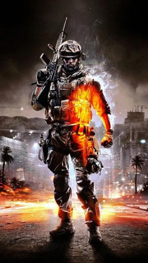 Call of Duty Ghosts Orange Soldier iPhone 7 wallpaper