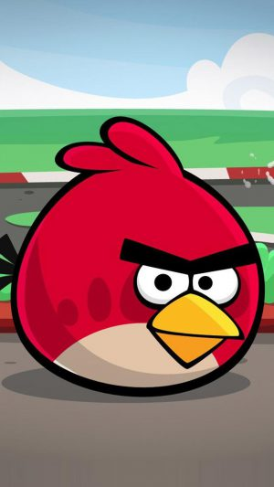 Angry Bird Red Art iPhone 7 wallpaper
