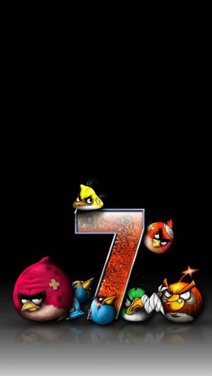 Angry Birds 7 Funny iPhone 7 wallpaper
