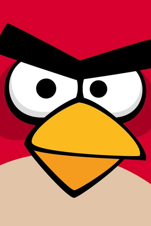 Angry Bird Closeup Red iPhone wallpaper