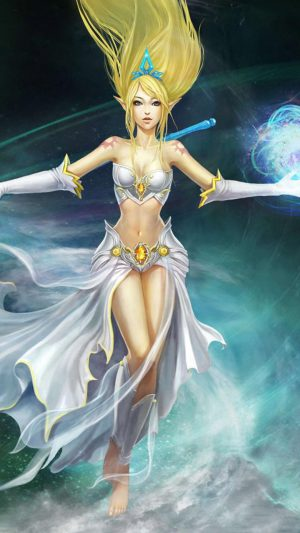 League Of Legends Girl Character Elf iPhone 7 wallpaper