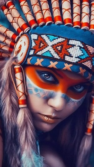 Tribal art beauty   iPhone 7 wallpaper