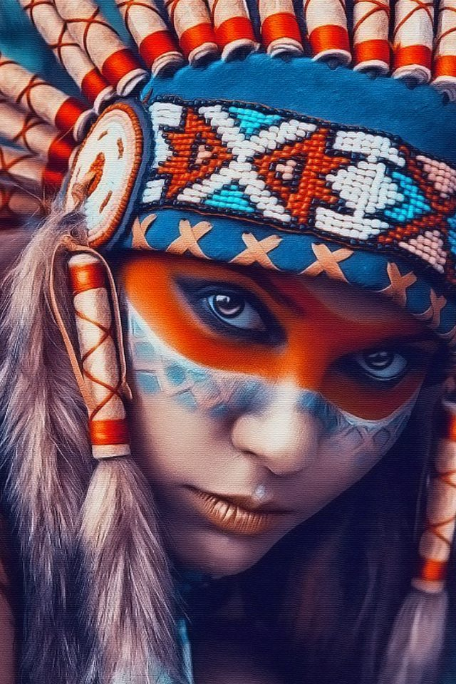 Tribal Art Beauty Iphone 7 Wallpaper Iphone7wallpapersco