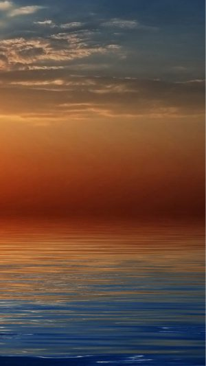 Beach Orange Sunset iPhone 7 wallpaper