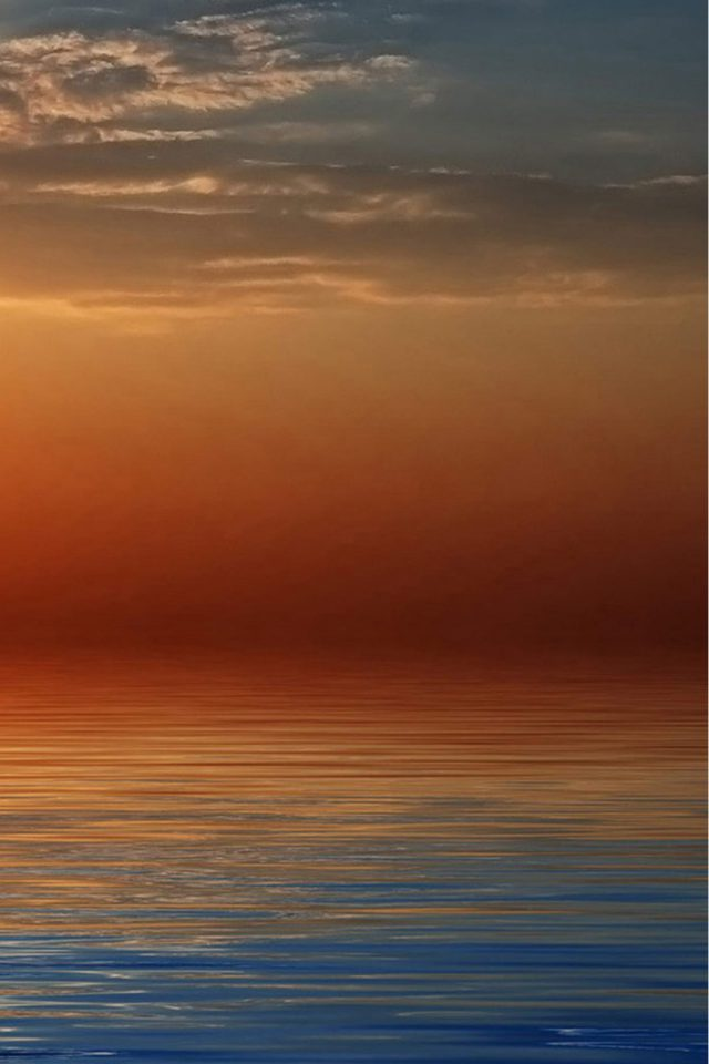 Beach Orange Sunset iPhone wallpaper