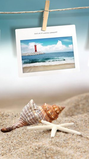 Beach photo memories iPhone 7 wallpaper