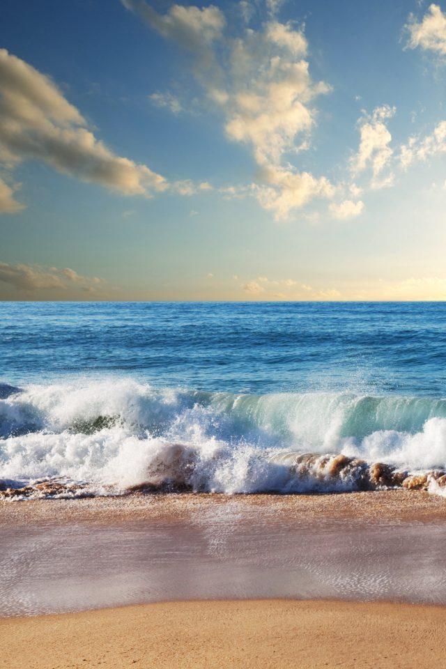 Beach Waves IPhone Wallpaper