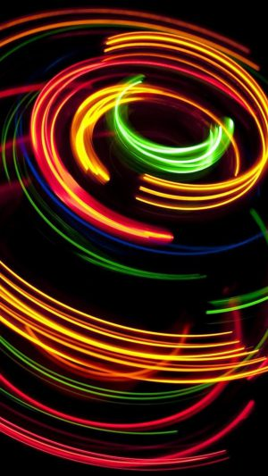 Colorful spinning iPhone 7 wallpaper