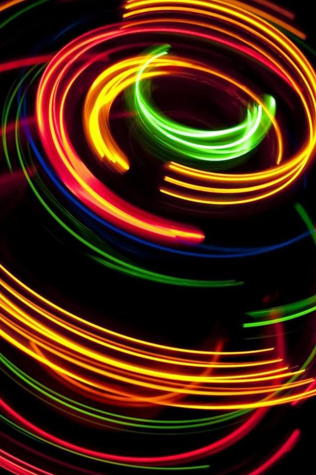 Colorful spinning iPhone wallpaper