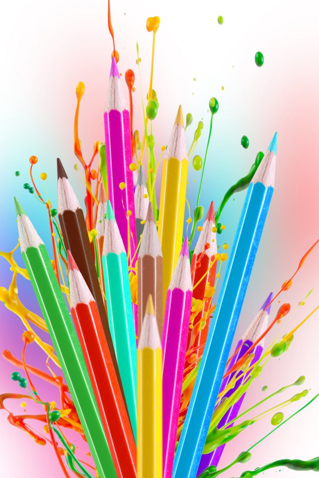 Colorful Pencils iPhone wallpaper