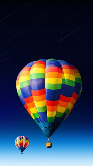 nice-colored-hot-air-balloon iPhone 7 wallpaper