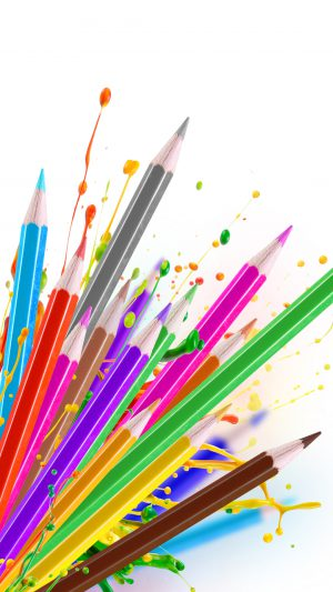 Colorful Pencils iPhone 7 wallpaper