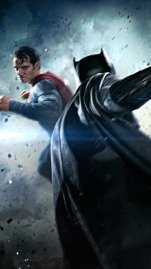 Batman VS Superman Movie Fight iPhone 7 wallpaper