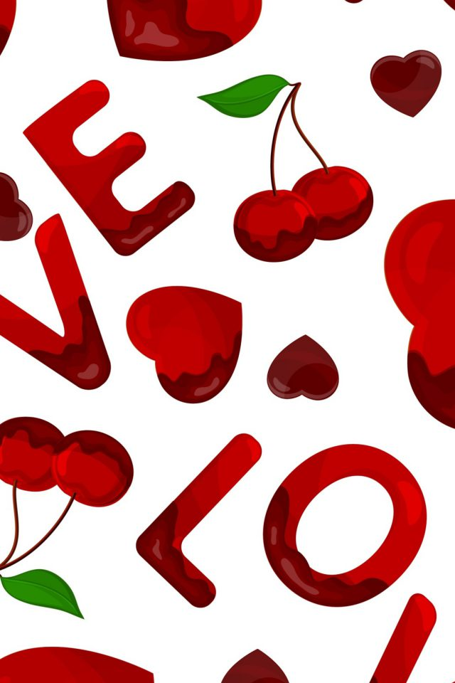 Love Heart Red iPhone wallpaper