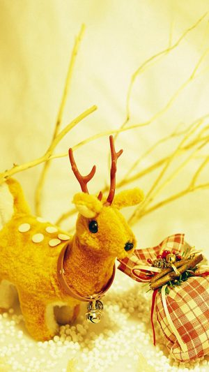 Christmas Deer iPhone 7 wallpaper