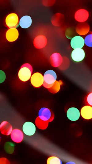 Christmas Lights Bokeh iPhone 7 wallpaper