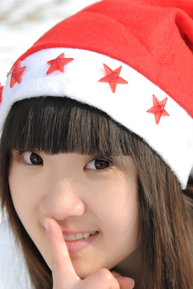 Cute Girl Christmas iPhone wallpaper