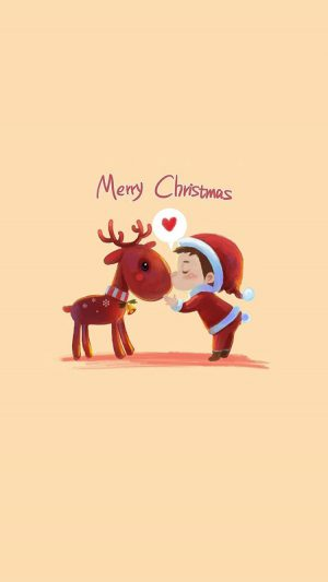 Cute Merry Christmas iPhone 7 wallpaper