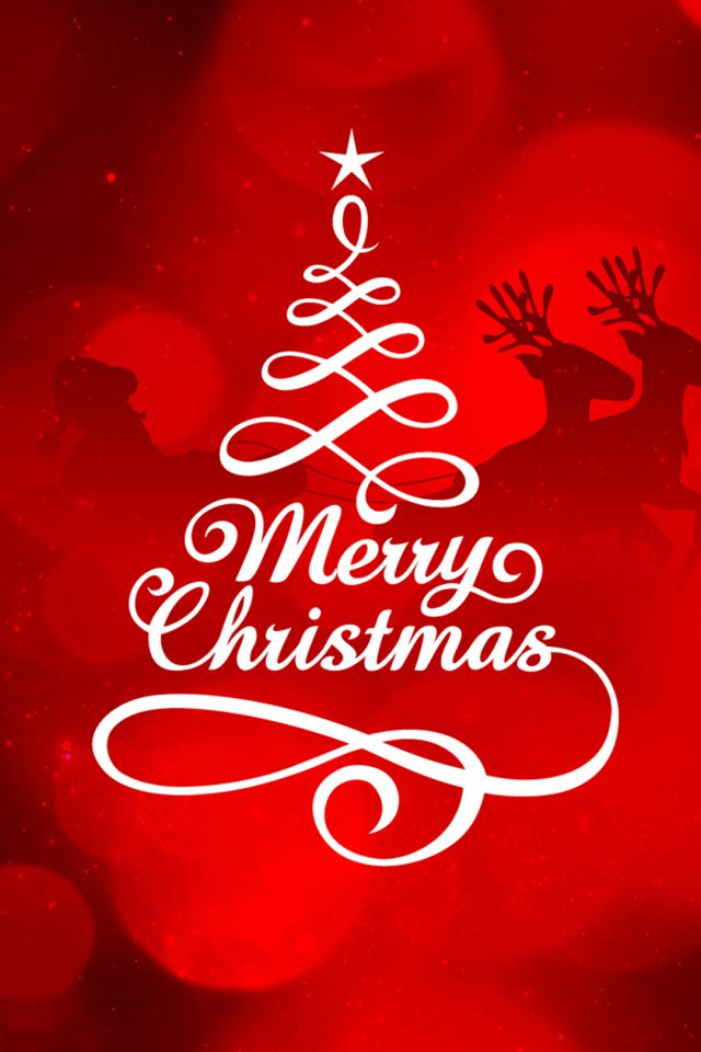 Merry Christmas iPhone wallpaper