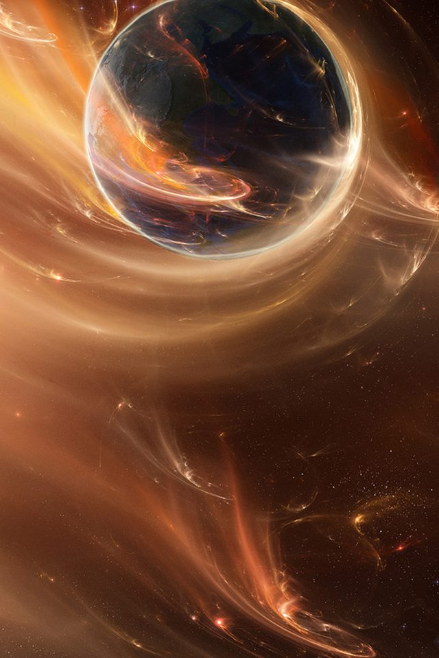 Great Abstract Space iPhone wallpaper