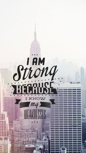 I Am Strong Quote iPhone 7 wallpaper