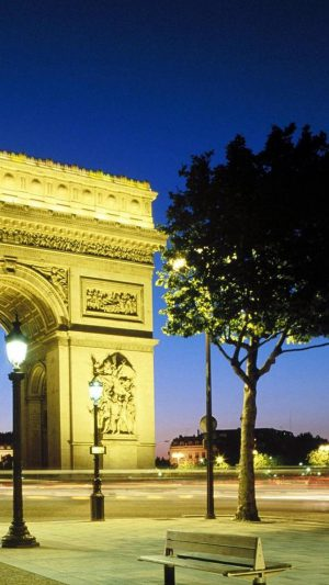 Paris Arc De Triomphe iPhone 7 wallpaper